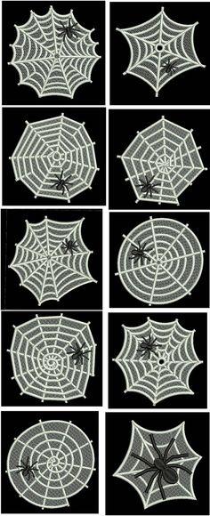FSL Spider Webs Embroidery Machine Design Details