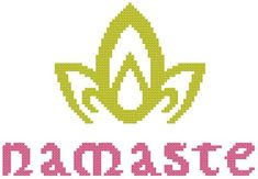 The word Namaste is a combination of the two Sanskrit words: nama, and te. The Namaste salutation was transmitted from ancient India to the countries of South-east Asia, and has now traveled virtually all over the globe. Buddha Buddhism, Buddha Meditation, Namaste, Lotus Yoga, Sanskrit Words, Crossstitch, Craft Patterns, Lotus Flower, Perler Beads
