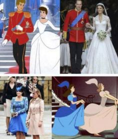 10 Funniest Disney Memes I know the step -sisters were colored to match; but how cute is it that William and Kate actually look like Cinderella and Prince Charming :) - funny pictures - funny photos - funny images - funny pics - funny quotes - funny anim Humour Disney, Funny Disney Memes, Disney Puns, Disney Pixar, 9gag Funny, Funny Humor, That's Hilarious, Freaking Hilarious, Rage Comics