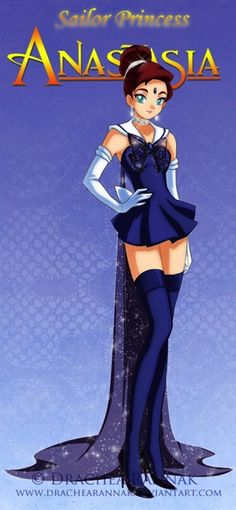 Disney famales as Sailor Moon Characters, I think this may be my favorite even though Anastasia is not technicaly disney