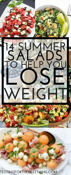 Salads to Help You Lose Weight These salads will help you lose weight for summer but taste amazing They 39 re anything but boring You family will love these healthy and TASTY salads www testingforthebestthing summer-salads-help-lose-weight Healthy Salad Recipes, Healthy Snacks, Healthy Eating, Rabbit Food, Weight Watchers Meals, Summer Salads, Soup And Salad, Summer Recipes, Healthy Choices