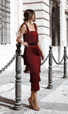 New Party Dress Red Glamour Ideas Pretty Dresses, Beautiful Dresses, Elegant Dresses, Mode Ootd, Fringe Dress, Fringe Outfits, Mode Outfits, Mode Inspiration, Dress To Impress