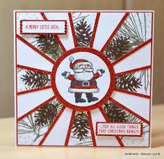 JanB Handmade Cards Atelier: Christmas Sunburst is Tomorrow's Video
