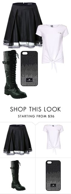 """""""My kind of rebel"""" by unashamedfashionista ❤ liked on Polyvore featuring Ostwald Helgason, GUESS and Swarovski"""