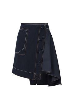 Quality Fashion Dresses For Stylish Women Uniqlo Women Outfit, Fashion Brand, Fashion Design, Asymmetrical Skirt, Skirt Outfits, Denim Fashion, Denim Skirt, Korean Fashion, Fashion Dresses