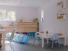 Dormitorios para niños en blanco