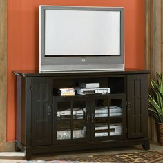 Have to have it Belham Living Hampton 55 inch TV Stand Black Oak