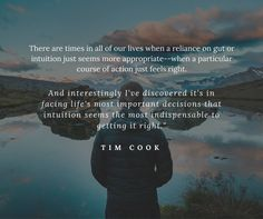 """""""Wonderful quote from Tim Cook. Facebook Instagram, Instagram Posts, Wonder Quotes, Soul Food, Our Life, Intuition, Dreaming Of You, Apple, Dreams"""