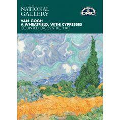 """Kit Van Gogh """"Campo de trigos con cipreses"""" BL1067/71 - Casa - Deco - DMC"""