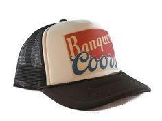 1805a8ef COORS BANQUET beer hat Trucker Hat mesh hat snapback hat tan/brown  adjustable #Unbranded