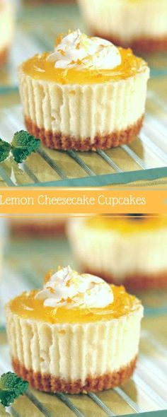 Easy Mini Lemon Cheesecakes with a graham cracker crust. These are the best ever mini cheesecakes. The Flying Couponer Mini Lemon Cheesecakes Casey Wright Recipes Easy Mini Lemon Ch Lemon Cheesecake Recipes, Lemon Curd Recipe, Cupcake Recipes, Keto Cheesecake, Mini Cheesecake Cupcakes, Raspberry Cheesecake, Cracker, Mini Cheesecakes, Yummy Cupcakes