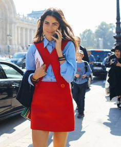 Leandra Medine - will always love this sixties silhouette. Phil Oh's Fashion Week Street Style: Spring 2016