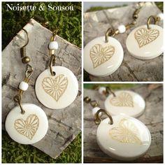 Coeur à prendre !! de la boutique NoisetteetSousou sur Etsy #polymer #gold #heart #or #resin #minimaliste #pureté #transparence