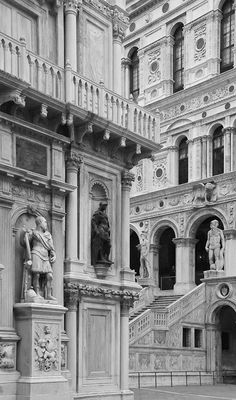 Venice, view inside the courtyard of the Doge's Palace.