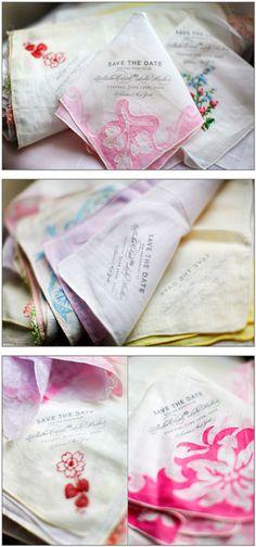 Vintage Save The Date Napkins, wedding invites, save the dates, invite ideas
