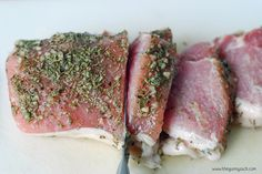 This garlic rosemary pork tenderloin recipe can be made on the grill during the summer and on the stovetop during the winter! It is a fast dinner recipe. Recipes With Pork Chunks, Pork Chip Recipes, Pork Cutlet Recipes, Pork Sausage Recipes, Pork Meals, Meat Meals, Meat Recipes, Paleo Pork Tenderloin, Rosemary Pork Tenderloin