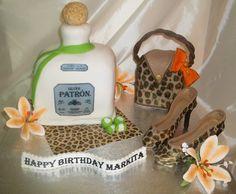 Patron Custom Cake ~ Like the Fan Page: http://www.facebook.com/sweetbudsbakeryfans