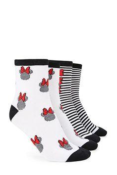 Minnie Crew Socks - 2 Pack