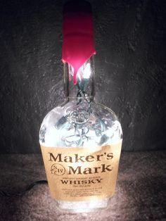 Lighted Maker's Mark Bottle Decorative Lamp Dorm Room Night Light Gift for Him Father's Day on Etsy, $20.00