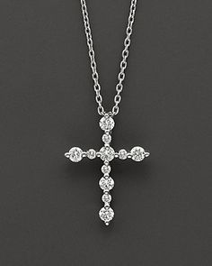 Diamond Cross Pendant Necklace in 14 Kt. Infinity Cross Necklaces, Diamond Cross Necklaces, Christian Jewelry, Cross Jewelry, Pendant Design, Necklace Designs, Quinceanera, Cross Pendant, Diamond Pendant