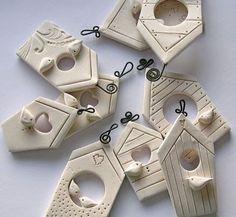 Fimo bird houses
