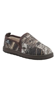 Double Barrel by M&F Men's Mossy Oak Camo Fleece Lined Slippers