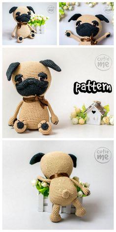 Dog Amigurumi Pattern - Brush Crochet | Perro amigurumi, Artesanía ... | 472x236