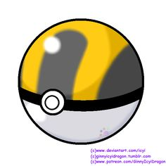 Pokemon Pokeball - Ultra Ball by Icyi on DeviantArt Pokemon Sketch, Pokemon Games, Ash, Balls, Pikachu, Deviantart, Artwork, Anime, Pokemon Stuff