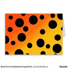 Black Dots On Blended OrangeToYellow Greeting Card