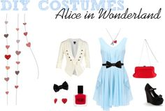 """DIY Costumes: Alice in Wonderland"" by ckcporter on Polyvore"