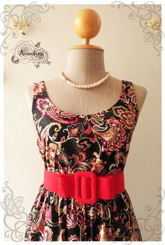 GRAPHIC SUNDRESS  Applied Traditional Filigree Dress by Amordress, $42.00