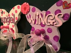 Children decor girl room decor butterfly wall pegs by Bedotted