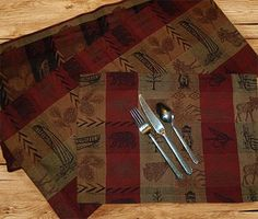 "New Lower Prices! - High Country Lodge Table Runner & Place Mats.    54""    $20.00"