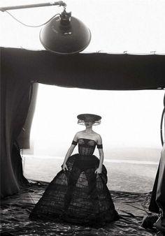 Amber Valletta . Photographer : Peter Lindbergh . Vogue Italia February 2013