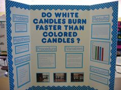 Melting Chocolate Science Fair Projects. Do White Candles Burn Faster Than Colored Candles
