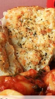 Cheddar Parmesan Bread - uses Bisquick, this pizza smells like pizza baking in the oven! Great for dipping in Italian soups.