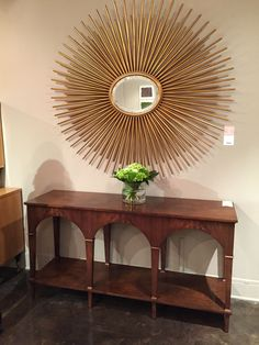 Console with beautiful lines from Modern History.  #ModernHistory #console #tables