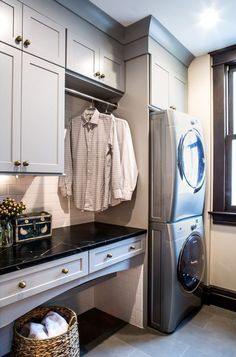 Image result for laundry rooms with stackable washer and dryer