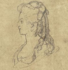 The profile of Marie Antoinette