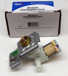 WV1670 Supco for Whirlpool Dishwasher Water Valve 8531670 AP3178610 PS8878598