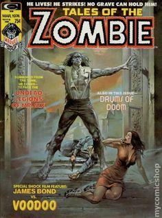 TALES OF THE ZOMBIE 4, BRONZE AGE MARVEL COMIC MAGAZINE