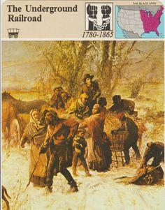 The Underground Railroad 1780-1865 Escape by vintagepostexchange