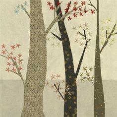 trio d'arbres en appliqué