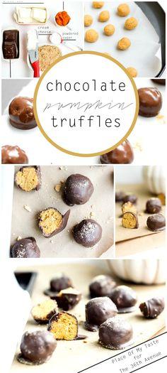 Dessert Recipe - Chocolate Pumpkin Truffles - Place Of My Taste for The 36th Avenue
