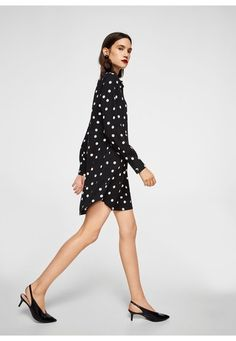 Discover the latest trends in Mango fashion, footwear and accessories. Shop the best outfits for this season at our online store. Polka Dot Print, Polka Dots, Short Dresses, Dresses For Work, Zara, Mango Fashion, Dot Dress, Evening Dresses, Latest Trends