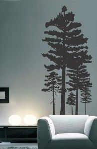 Pine Tree Forest Vinyl Wall Decal for Artists of Etsy... review | buy