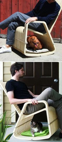 The chair designed for people and pet- @Tracy Allen how much would Tank LOVE THIS outside in the yard???
