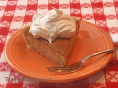 Smooth and spicy Persimmon Pie recipe from Grandma's Cookbook of kitchen-tested recipes.