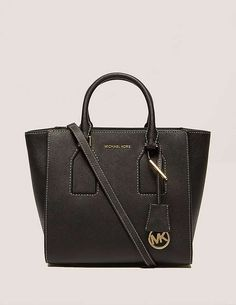 black Michael Kors Selby Medium Satchel