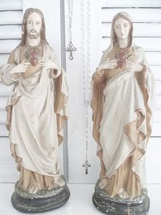 ♥ Sacred Heart of Jesus and Immaculate Heart of Mary